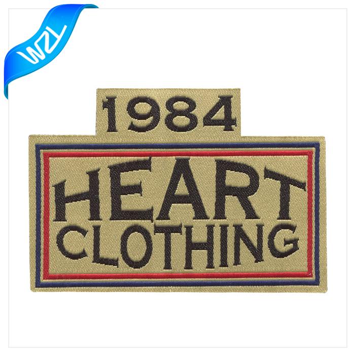 Fashion Stick On Taffeta Woven Label Satin Clothing Label