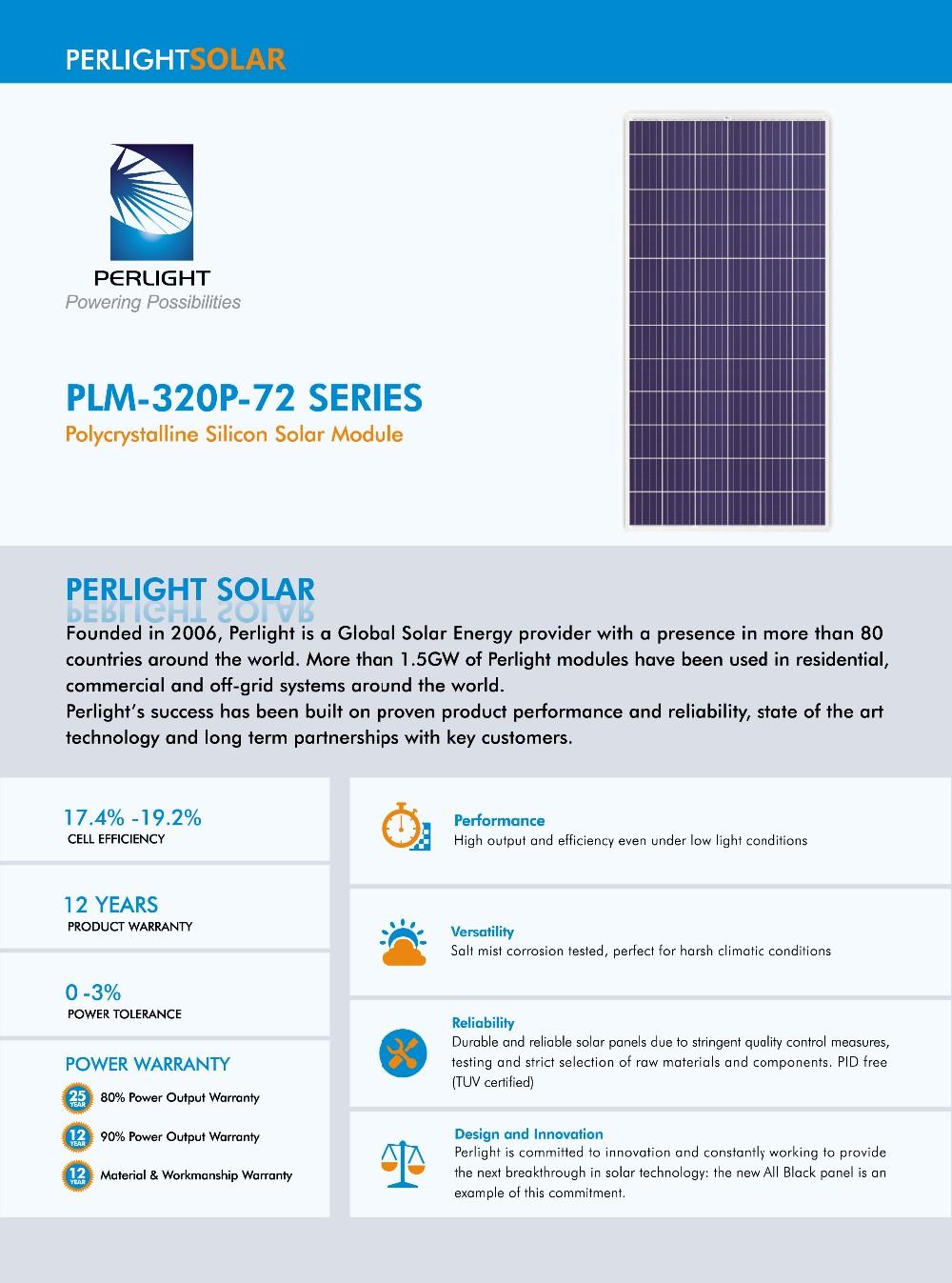 perlight high efficiency solar panel 310w price sunpower system 320 watts 24v solar module pv. Black Bedroom Furniture Sets. Home Design Ideas