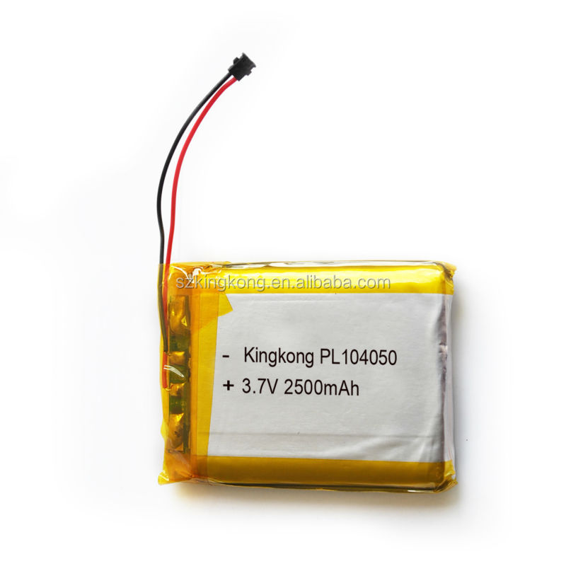 China cheap high capacity 3.7v 2400mah lipo battery 104050 lithium polymer battery