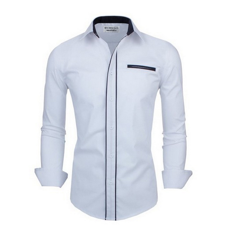 Mens Decorated Collar Mens Dress Shirts Latest Fashion Designs For