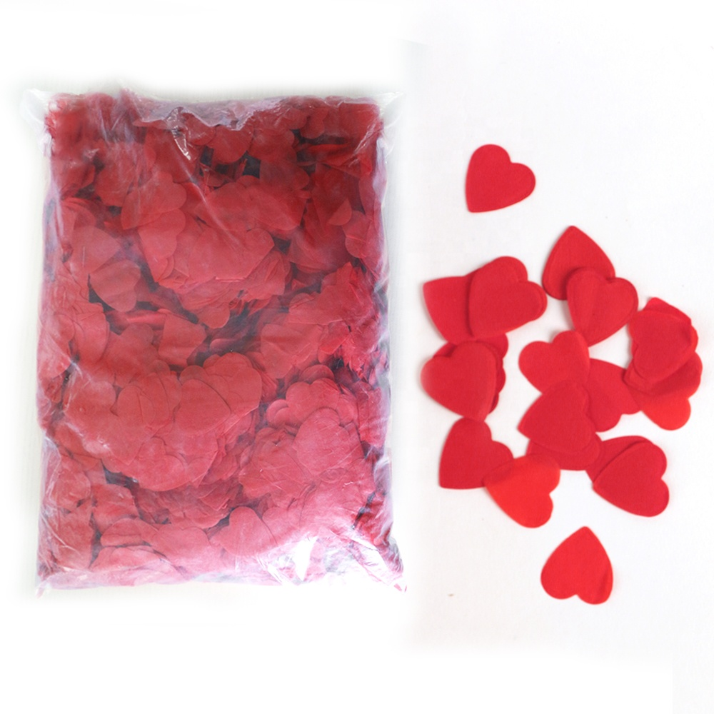 Boomow hot selling wedding ceremony decoraties hart tafel tissue paper party confetti