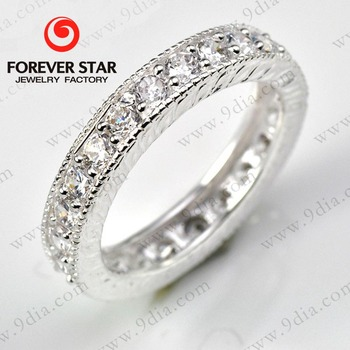 1r001448a Hot Sale Best Price Silver Ring With Korean Machine Cut Cz