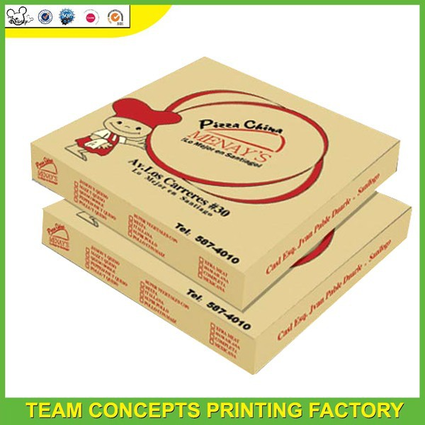 Personalize food grade carton pizza box design