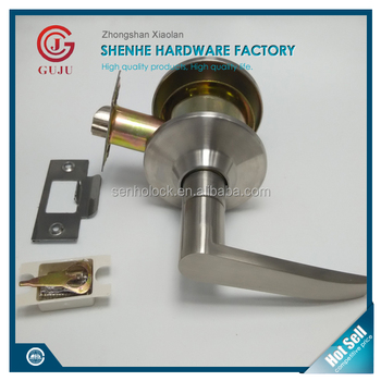 Hotel Connecting Door Lever Lock With Single Sided Handle And Blank Plate