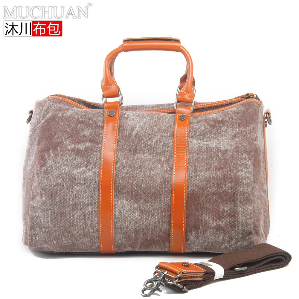 32dc7a96bb12 Get Quotations · New men s women s Fashion handbag casual canvas travel  duffle bags men horse leather travel duffle bags