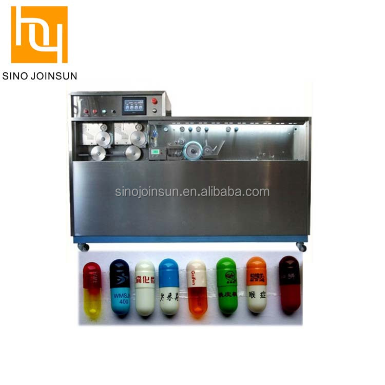 Pharmaceutical grade two color capsule design printing machine