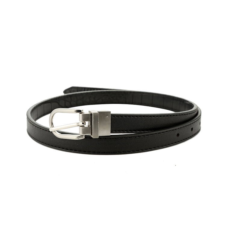 Factory supply custom design fashion simple style black ladies belt