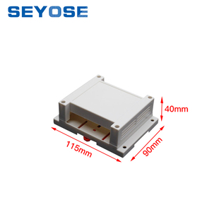 hot selling wall mount plastic enclosure pcb plastic case 115*90*40mm din rail enclosure cabinet electrical outlet box