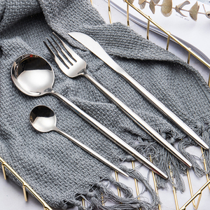 silver dinner stainless steel spoon and fork set spoon knife and forks sets dinnerware cutlery set