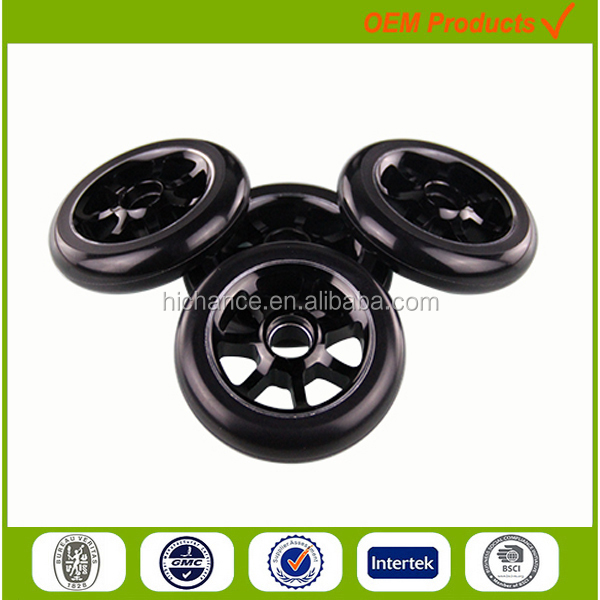 110mm aluminum hub 7 spoke wheel adult kick scooter large PU wheels