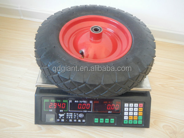3kg pneumatic wheelbarrow wheel 3.50-8 with bend valve