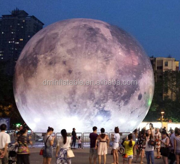 Giant Led Advertising Inflatable Moon Balloon