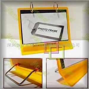Custom acrylic 7 inch leather digital photo frame