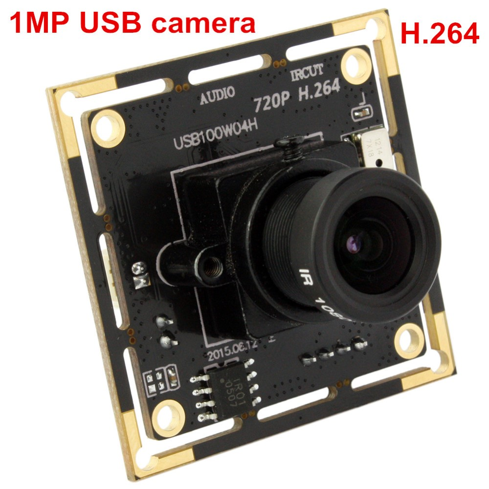 ELP free driver 1mp 720p hd mjpeg ov9712 mini cmos h.264 camera module pcb WITH audio and IR cut