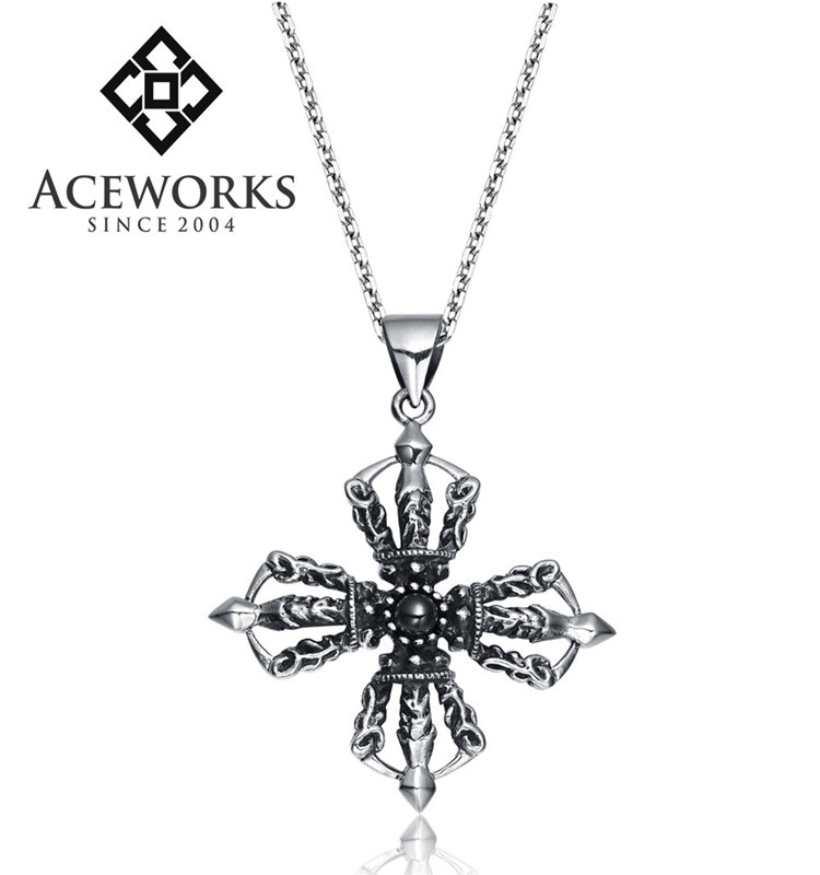 Best Quality Free Gift Box 10k Solid Flat-backed Ankh//egyptian Cross Pendant