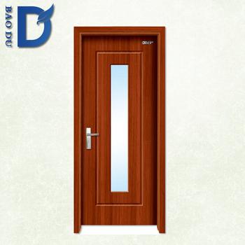 Simple Wood Panel Door Design Pvc Door Frame With Waterproof - Buy ...