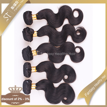 China wholesale high quality 20 inch body wave 100 virgin brazilian human hair extension
