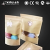 kraft paper packaging stand up pouch with zipper /candy packaging pouch/nuts packaging pouch
