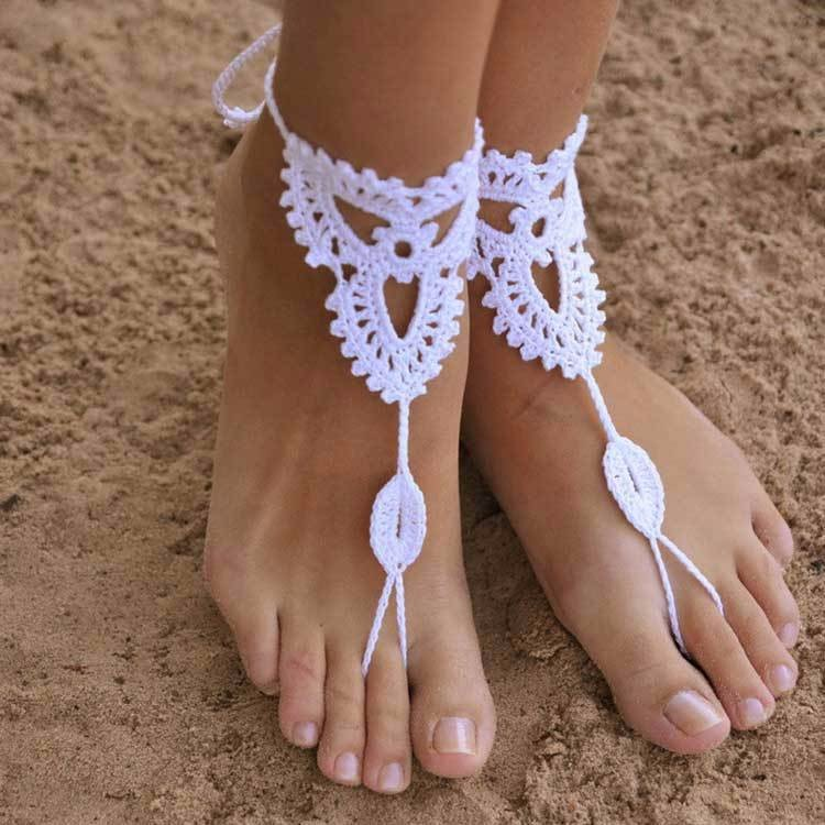 Charm Women Anklet Rhinestone Sexy Barefoot Sandals Anklets Beach Foot  Jewelry Bridal Accessories Bare feet decorated 8789965fd036
