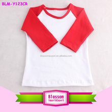 Factory OEM Raglan Blend Plain blank Tee Baseball T Shirt 3 4 Sleeve Wholesale Tshirts Cotton Sport Top