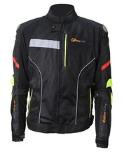 Mens Waterproof Armored Textile Motorcycle Jacket