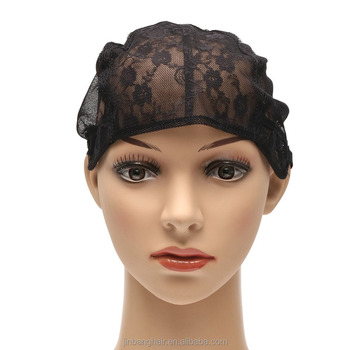 New 1pcs S M L Black Lace Front Wig Caps With Adjustable Strap Weaving Cap Tools Hair Net Hairnets Easy cap