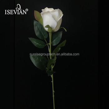 Tianjin Wholesale Artificial Flowers Long Stem Pink Silk Rose Flower
