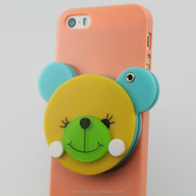 china wholesale cute cartoon bear image design PC mirror cover case for apple iphone 6,cute mirror case for girls