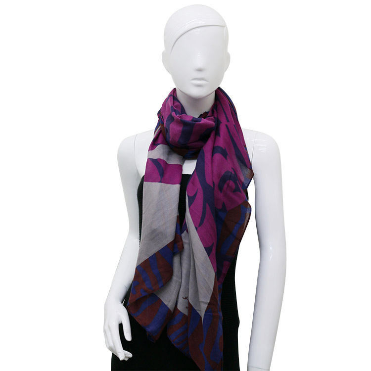 High quality proper price handmade winter crinkle scarf
