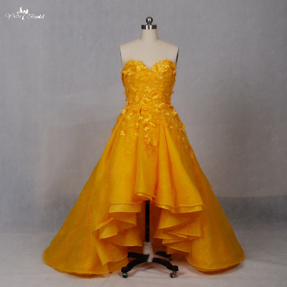 LZ151 Alibaba Wedding Gowns Kuning Dresses Floral Dress Wedding Dresses Lace Sayang