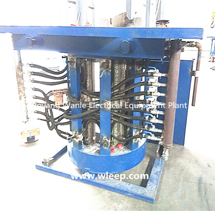 0.75T Steel Shell IF Induction Copper Melting Furnace