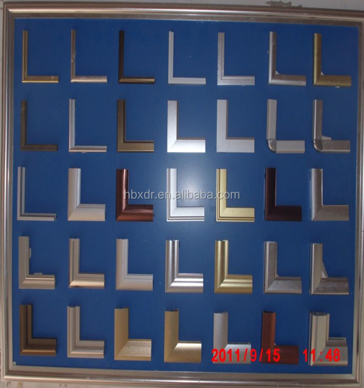 Colored anodized sand blasted frosted aluminium profile signs