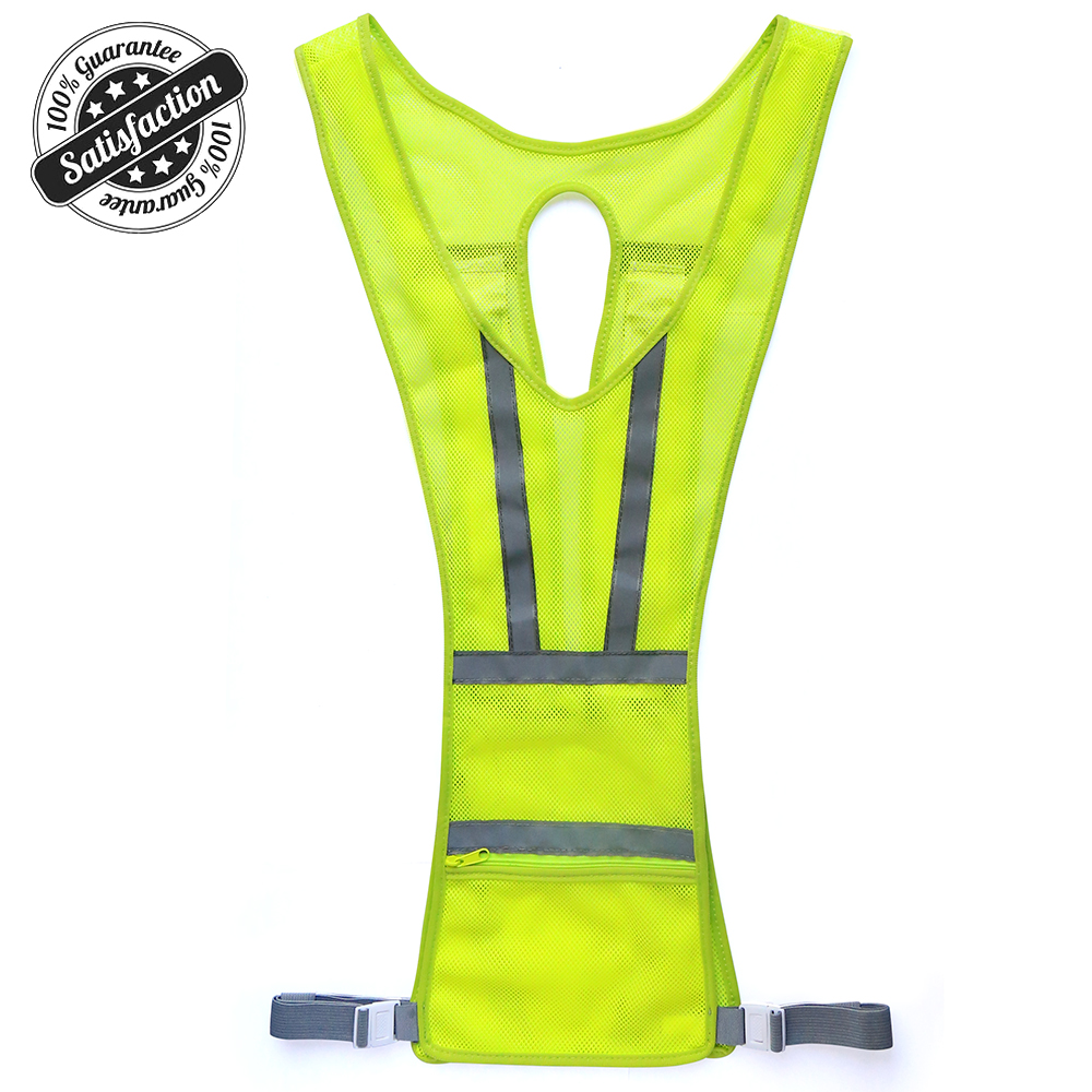 2018 high quality chinese creative sports safety gear run led vest glowing at night