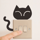 Custom Designs Living Room Bedroom Large Sized Wall Decals Funny Cat Switch Decor Cheap Wall Stickers