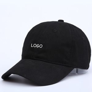 Wholesale Custom Cap Black Baseball Cap Hat With Embroidery Logo