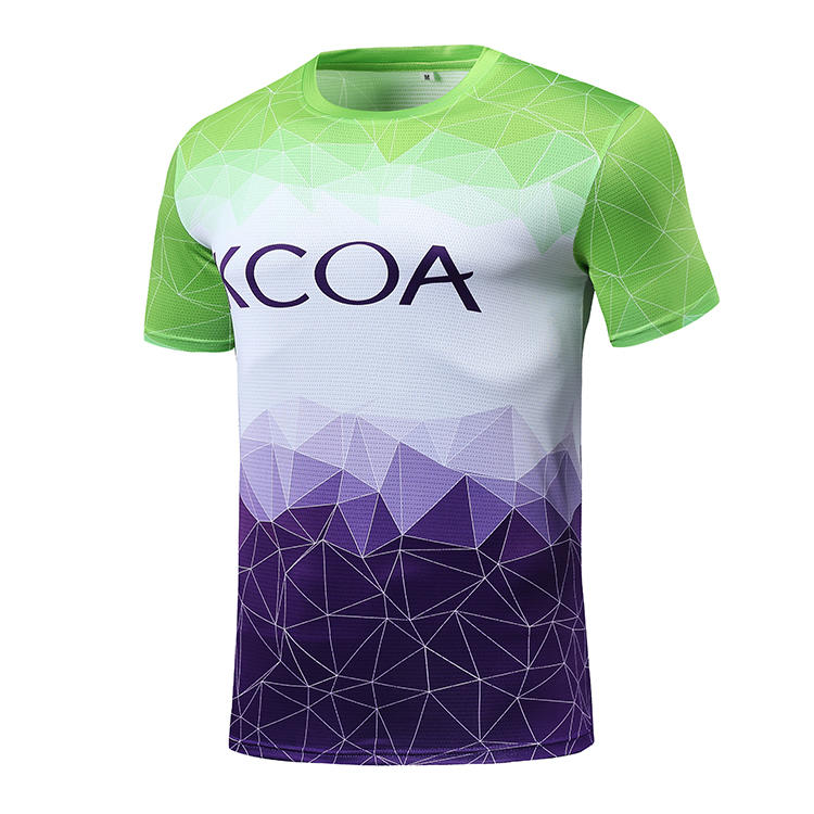 2019 KCOA High Quality Sports Quick Dry Mesh Breathable Sublimation Custom Running Men T Shirt