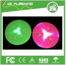 High Quality soft silicone flashing pet fly disc for chewing and sport