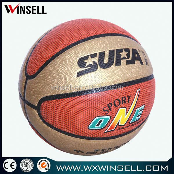 super market metallic shine pvc basketball manufactureres in china