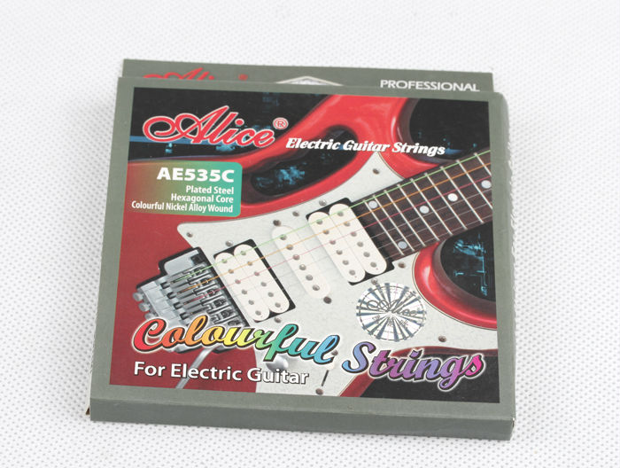 Alice AE535C Electric Guitar Strings Guitar Necessities Colorful Guitar Strings Professional Instrument Strings