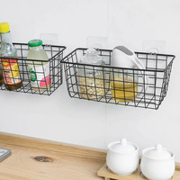 High Quality Home Metal Wire Storage Basket For Kitchen Wall Decoration
