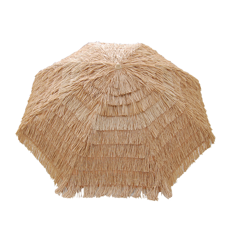 Chinese family garden unique custom outdoor shade Hawaii straw thatch umbrella