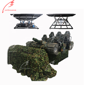 Good profit peoject military war game 9d simulation motion 6 seater platform