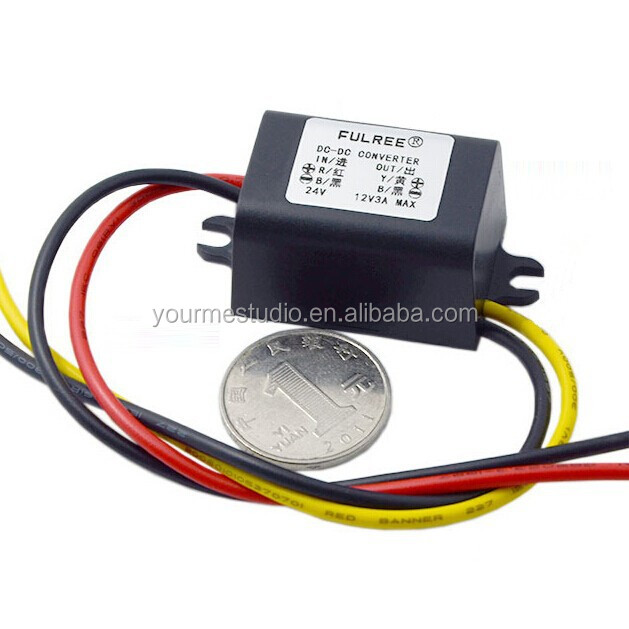 Factory Price 24V To 12V DC Buck Converter For Car Audio Monitoring Conversion