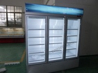 3 door supermarket commercial beverage display cooler/beverage fridge/beverage display refrigerator
