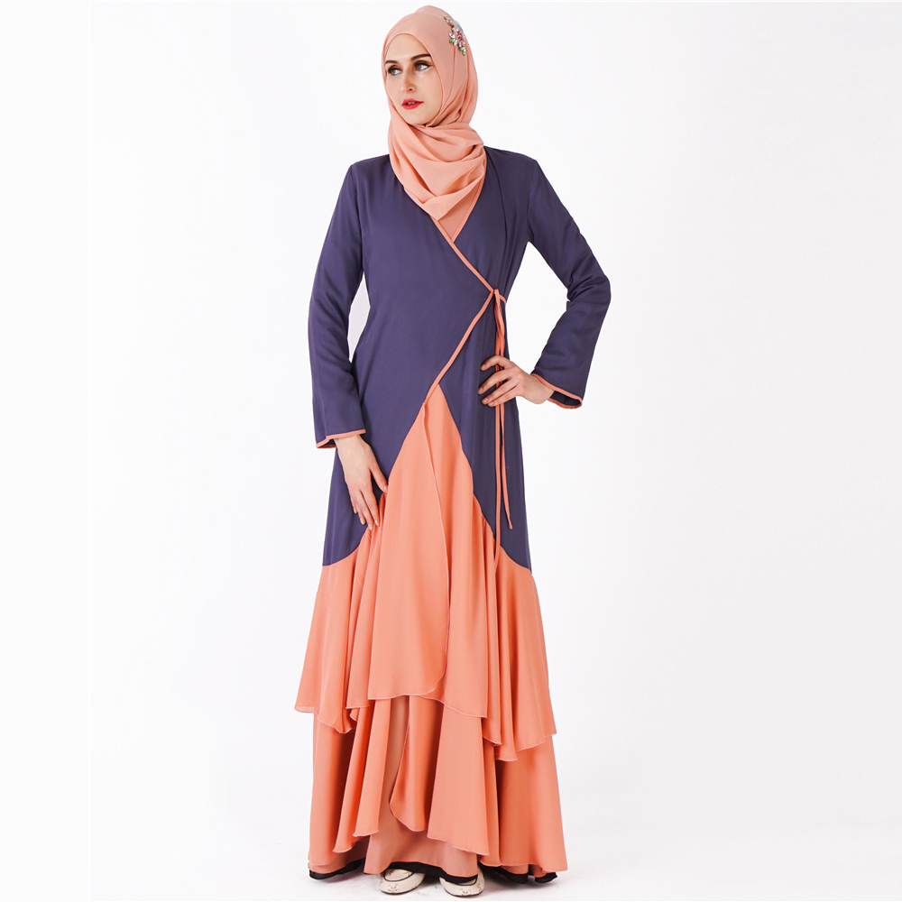 6c8d18af9a869 Two tone casual flattering women jalabiya online shop modest muslim clothing  abaya dresses