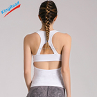 Girl Sexy white singlets Ladies Workout Tank Top Women Fitness Bra Crop Top