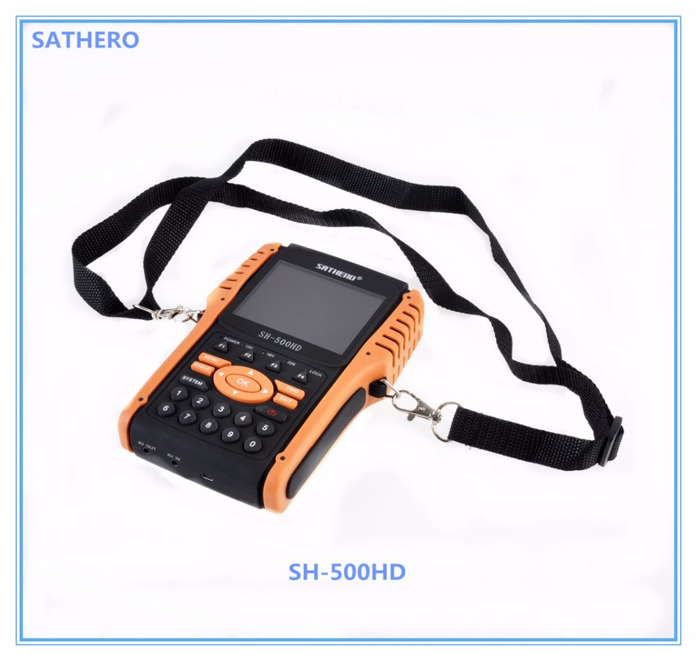 SH-500HD SATHERO Digital Sat Finder Satellite TV Signal Receiver Meter Satellite Finder Meter with DVB-S2