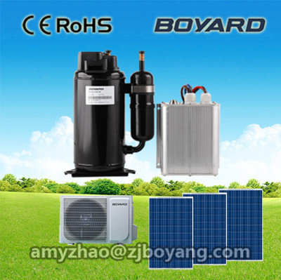 48v dc air conditioner 7000btu window mounted with lanhai hermetic 100% solar <strong>energy</strong> powered 48v air conditioner compressor