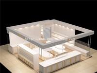 living room glass showcase design for diamond jewelry store interior
