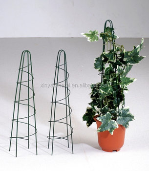 garden metal obelisk tomato cage iron flower pot trellis. Black Bedroom Furniture Sets. Home Design Ideas